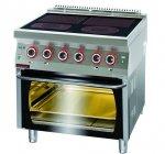 Kuchnia elektryczna z piekarnikiem elektrycznym  800x700x900 mm KROMET 700.KE-4C/PE-2 700.KE-4C/PE-2