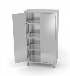 Szafa magazynowa z drzwiami na zawiasach 800 x 500 x 1800 mm POLGAST 304085 304085