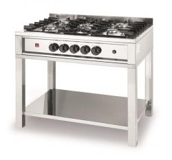 Kuchnia gazowa 5-palnikowa Kitchen Line na podstawie otwartej HENDI 225806 225806