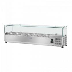 Nadstawa chłodnicza - 150 x 33 cm - 7 x GN 1/4 - szklana osłona ROYAL CATERING 10010933 RCKV-150/33-7