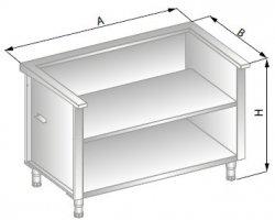 Stanowisko szafkowe pod urządzenia zewnętrzne 950x705x900 ERIK DM-94515-E