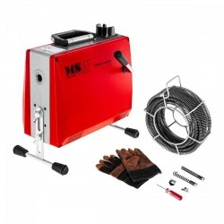 Przepychacz do rur - 6 x 2,45 m - akcesoria gratis MSW 10060351 MSW-DRAIN CLEAN 2.3E