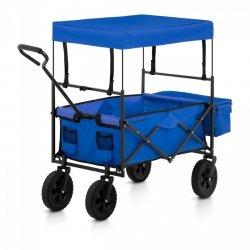 Wózek ogrodowy składany - 100 kg - niebieski UNIPRODO 10250188 UNI_CART_02