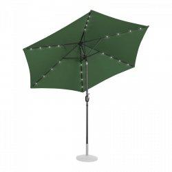 Parasol ogrodowy stojący - Ø300 cm - zielony - LED UNIPRODO 10250124 UNI_UMBRELLA_TR300GRL