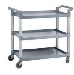 Wózek kelnerski 3-półkowy z tworzywa sztucznego (skręcany) INVEST HORECA WT-D00201 WT-D00201