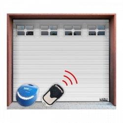 Brama garażowa z napędem - segmentowa - 2500 x 2125 mm - biała - łańcuch MSW 10060203 GD2580-S white