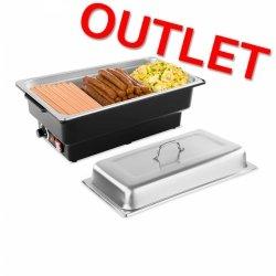 OUTLET   Podgrzewacz do potraw - 900 W - 100 mm ROYAL CATERING 10010147 RCCD-1/1-100-KS-E