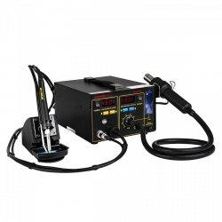 Stacja lutownicza - 75 W - odsysacz oparów - uchwyt na cynę - 2 x LED STAMOS 10021025 S-LS-16