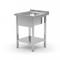 Stół ze zlewem i półką 600 x 600 x 850 mm POLGAST 212066 212066
