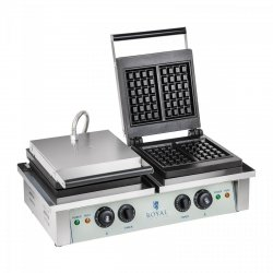 Gofrownica - 2 x 2000 W - prostokątna ROYAL CATERING 10010315 RCWM-4000-E
