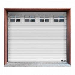 Brama garażowa - segmentowa - 2500 x 2125 mm - biała MSW 10060204 GD2580 white