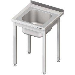 Stół ze zlewem i otworem pod rozdrabniacz, bez półki 600x600x850 mm spawany STALGAST 980636060S 980636060S