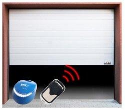 Segmentowa brama garażowa z napędem - 2500 x 2125 mm - łańcuch - biała MSW 10060038 GD2500-I