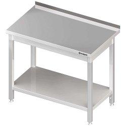 Stół przyścienny z półką 1400x700x850 mm spawany STALGAST 612347 612347
