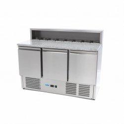 3-drzwiowy stół chłodzący do pizzy Maxima 400 L MAXIMA 09400205 09400205