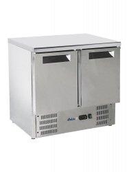 Stół chłodniczy 2 drzwiowy z blatem roboczym i agregatem dolnym HENDI 236130