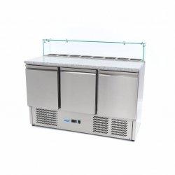 Chłodzący szklany stół do pizzy Maxima 3-drzwiowy 400L MAXIMA 09400208 09400208