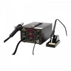 Stacja lutownicza - 60 W - 2 x kolba - 2 x LED - rączka do przenoszenia STAMOS 10021004 S-LS-11