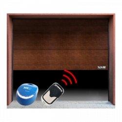 Brama garażowa z napędem - segmentowa - 2375 x 2125 mm - czarny orzech - łańcuch MSW 10060205 GD2375-S black walnut