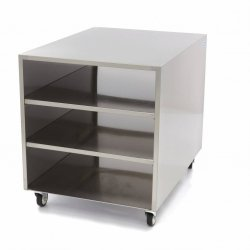 Stół maszynowy / stół ruchomy Maxima ze stali nierdzewnej 60 x 80 cm MAXIMA 09300785