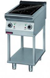 Kuchnia indukcyjna 450 mm 2x5,0 kW na podstawie szkieletowej  KROMET 900.KE-2i/450.T LINIA 900