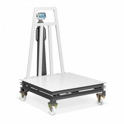 Waga platformowa - skalibrowana - 1-1500 kg: 500 g / 1500 -2000 kg: 1 kg - 1200 x 1200 mm - kółka TEM 10200109 AEK+C120X1202000M1-C