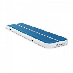 Nadmuchiwana mata gimnastyczna - 400 x 100 x 20 cm - niebiesko-biała GYMREX 10230109 GR-ATM5