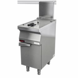 frytownica gazowa 1x15l na podstawie szafkowej zamkniętej  KROMET 700.FG-15f LINIA 700