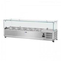 Nadstawa chłodnicza - 140 x 33 cm - 6 x GN 1/4 - szklana osłona