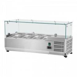 Nadstawa chłodnicza - 4 x GN 1/3 - 120 x 39 cm - szklana osłona