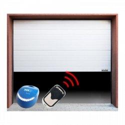 Brama garażowa z napędem - segmentowa - 2375 x 2125 mm - biała - łańcuch MSW 10060215 GD2375-S white