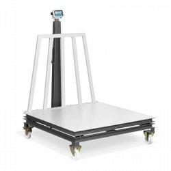 Waga platformowa - skalibrowana - 0-1500 kg: 500 g / 1500-2000 kg: 1kg - 1500 x 1500 mm - kółka TEM 10200108 AEK+C150X1502000M1-C