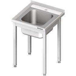 Stół ze zlewem 1-kom.,bez półki 600x700x850 mm spawany STALGAST 980627060S 980627060S