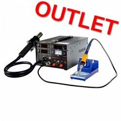 OUTLET | Stacja lutownicza - 75 W - 2 x kolba - zasilacz - 3 x LED - Basic STAMOS 10021022 S-LS-13 Basic