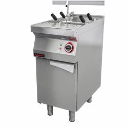 Makaroniarka elektryczna z ociekaczem i dwoma koszami 6kW na podstawie szafkowej zamkniętej  KROMET 700.EUS-400.S.D LINIA 700