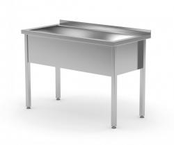 Stół z basenem jednokomorowym - wysokość komory h = 300 mm 600 x 700 x 850/300 mm POLGAST 205067/3 205067/3
