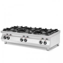 Kuchnia gazowa 6-palnikowa Kitchen Line, stołowa HENDI 227398 227398