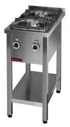Kuchnia gazowa na podstawie otwartej 2-palnikowa  400x700x850 mm