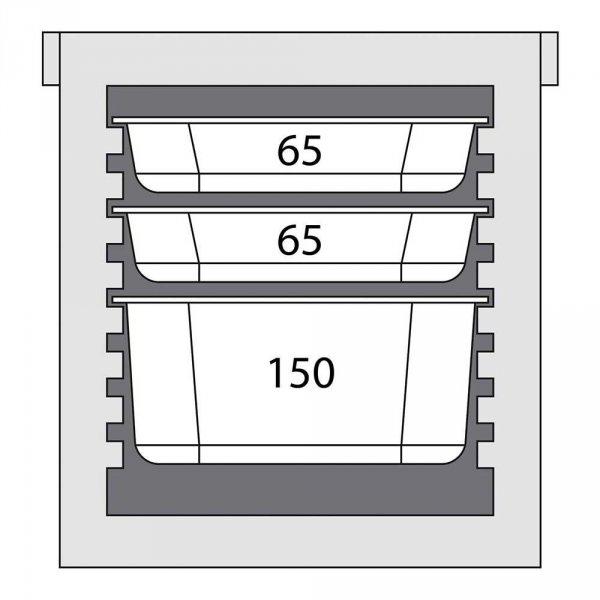 Pojemnik termoizolacyjny 8x GN 1/1 20 mm STALGAST 055056 055056