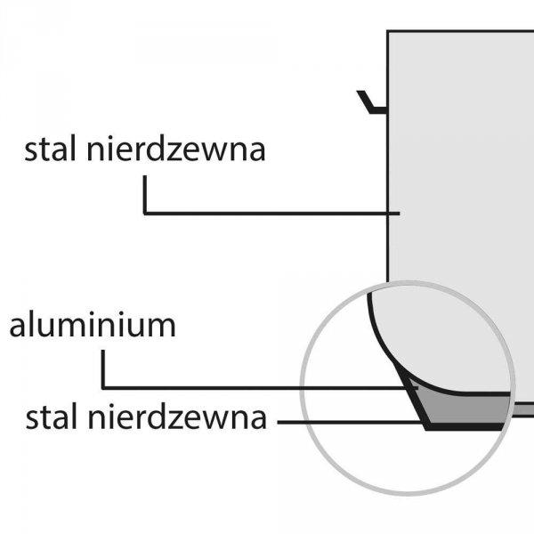 Garnek wysoki d 240 mm 9 l z pokrywką STALGAST 011242 011242
