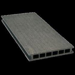 Deska tarasowa GAMRAT - kompozytowa ryflowana 25x160x2400mm Grafit Wersja P