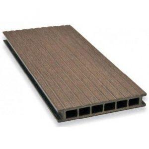 Deska tarasowa GAMRAT - kompozytowa ryflowana 25x160x4000 Ciemny brąz  Wersja L