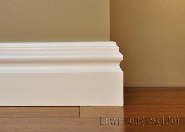 Cokół MDF Luwr 100 19x100x2620mm biały