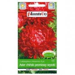 ASTER PEONIOWY wysoki CZERWONY nasiona kwiatów 1g