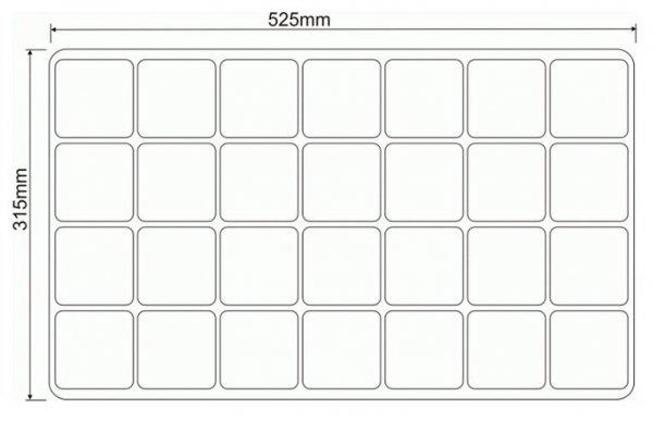 Wielodoniczki palety rozsadowe 31x52 cm DP 7/28