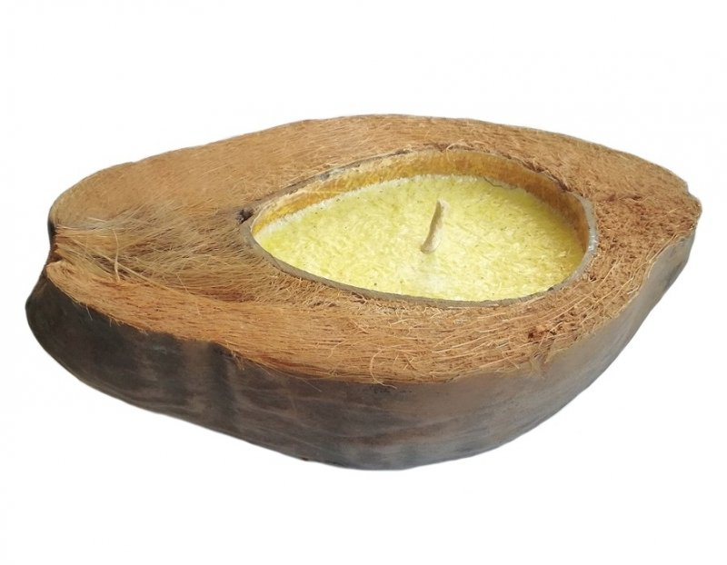 Świeczka w kokosie