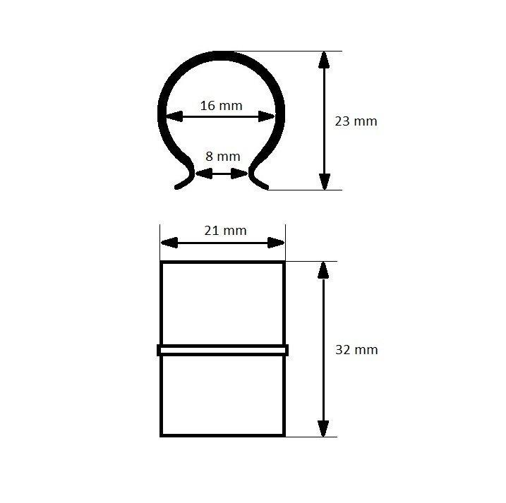 Spinka do folii Brinkman 16 mm wymiary