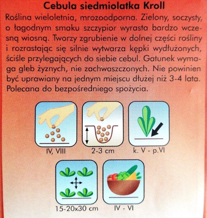 Cebula siedmiolatka Kroll nasiona Plantico opakowanie