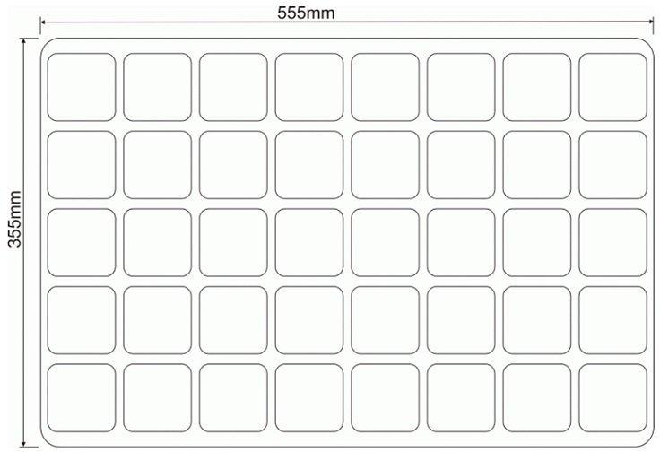 WIELODONICZKA 7/40 paleta rozsadowa 40 doniczek