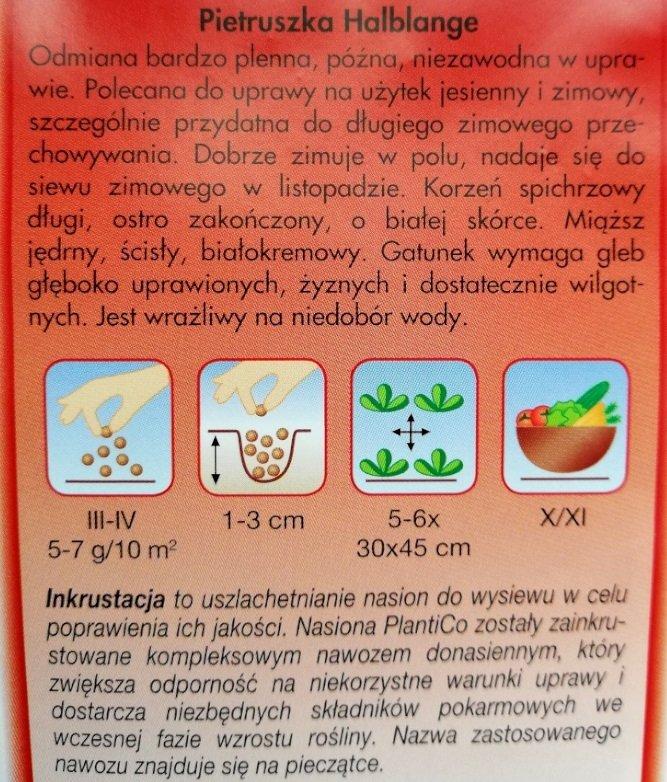 Pietruszka Halblange Plantico - opakowanie